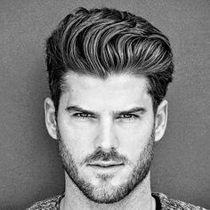 Thick Brushed Up Hair with Beard
