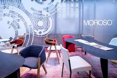 Orgatec 2014 #Moroso Conference Room, Dining Chairs, Table Decorations, Furniture, Design, Lighting, Home Decor, Decoration Home, Room Decor