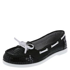 Glamour: Sequined Boat Shoes. | Payless ShoeSource