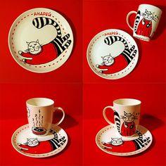 Personalized mug and plate