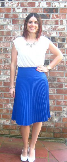 Cobalt Midi Skirt #RealMomStyle
