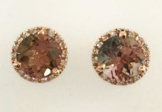 5c43b77bd The galaxy earrings with diamonds and watermelon turmaline. All set in rose  gold. Only
