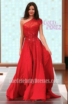Miranda Kerr Red Prom Dress David Jones Spring Summer 2012 Fashion Show  Senior recital dress, anyone?!?