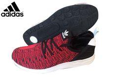 5ced25c8eb327 Men s Adidas Originals ZX Flux Running Shoes Black Red