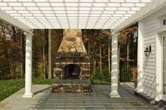 outdoor fireplaces with pergola - Google Search