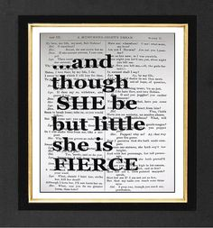 William ShakespeareShe is Fierce ORIGINAL ARTWORK by sherryannshop, $10.00
