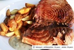 Grillezett tonhal steak Steak, Pork, Kale Stir Fry, Steaks, Pork Chops