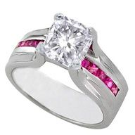 pink camo wedding rings with real diamonds