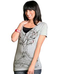 True Vine Deep V-Neck - So cute....just ordered this and a cute cardigan with my coupon.....so excited!