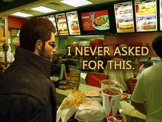When you get the wrong order // tags: funny pictures - funny photos - funny images - funny pics - funny quotes - Video Game Industry, Video Game News, Video Games, Ex Memes, Deus Ex Human, Tech Humor, Funny Humor, Computer Humor, Know Your Meme