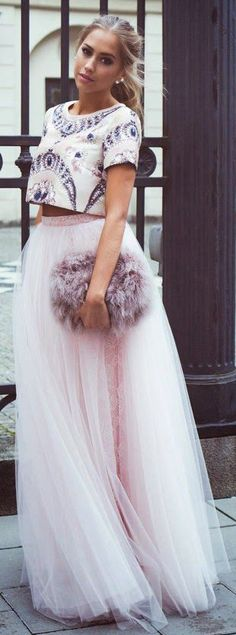 Amore Maxi Tulle Prom Skirt