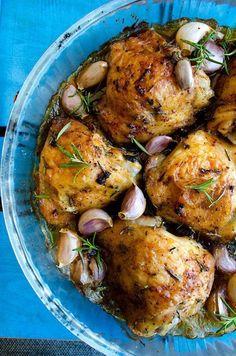 menu équilibré pas cher, poulet rôti aux herbes