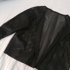 FINAL FLASH- Perforated Leather Jacket The best vegan leather jacket for layering. Adjustable sleeves and a boxy cropped fit will keep you looking slick. No size labels or brand labels so I've listed it as Nasty Gal, fits like a size M but size is pretty flexible. Excellent condition. Nasty Gal Jackets & Coats