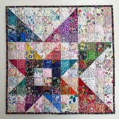 Gorgeous liberty mini quilt 2019 Gorgeous liberty mini quilt The post Gorgeous liberty mini quilt 2019 appeared first on Quilt Decor. Star Quilt Blocks, Star Quilts, Scrappy Quilts, Mini Quilts, Liberty Quilt, Liberty Fabric, Watercolor Quilt, Quilt Modernen, Half Square Triangle Quilts