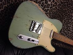 "Telecaster #heavy relic retro 50's surf green tele #custom #""awesome"" special,  View more on the LINK: 	http://www.zeppy.io/product/gb/2/262837524762/"