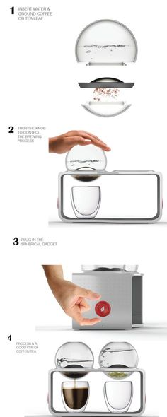 The Bodum Coffee & Tea Maker is unlike any I've seen before. A borosilicate glass reservoir & beverage filter are integrated as detachable modules, making the coffee or tea completely spill-proof. The engagement of brewing process is revea