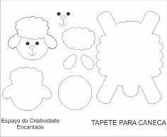 Espaço da Criatividade Encantado : TAPETE DE CANECAS, DESCANSO E PORTA COPOS