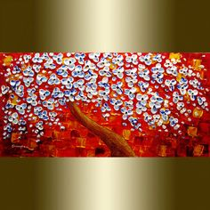 original Abstract Painting Palette Knife Oil by viorelscoropan, $295.00