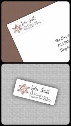 $5.25--30 Labels/1 Sheet Christmas Address Labels, Personalized Address Label Stickers, Snowflake Christmas Address Label, Christmas Gift Tag, Geometric Shape