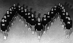 #UMich Hockettes! Founded in 1956, the Hockettes are the original synchronized skating team. #GoBlue