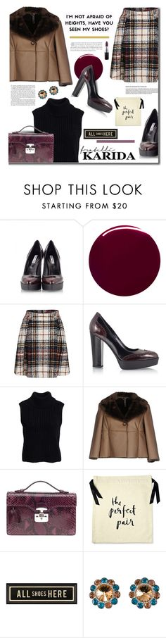 """Style&Shoes with FratelliKarida.com"" by hamaly ❤ liked on Polyvore featuring Fratelli Karida, Burberry, Glamorous, Manila Grace, Gucci, Kate Spade, Spicher and Company, Gwyneth Shoes, Miu Miu and MAC Cosmetics"