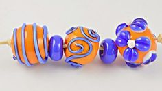 Artisan Glass Beads 8.28.16 - a colourful lampwork bead set from Laney of Izzybeads<3<3<3
