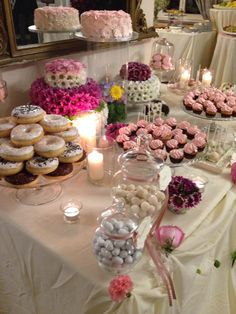 Donuts on a dessert table an unexpected delicious treat