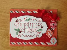 For Sale - Many good Christmas Card Ideas. This is a very nice and high quality all occasion card. 100% of the supplies used are from Stampin Up. The Size of the card is 4 1/4 x 5 1/2 inches.