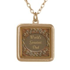Antique Wood World's Greatest Dad Necklaced by elenaind