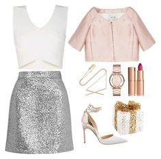 """""""Holiday Sparkle With The RealReal: Contest Entry"""" by theyoumi ❤ liked on Polyvore featuring BCBGMAXAZRIA, Topshop, Valentino, Manolo Blahnik, Carbon & Hyde, Marc by Marc Jacobs, Melrose International and Charlotte Tilbury"""