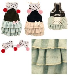 Designer Pet Apparel, Small Dog Clothes, Chihuahua Dog Clothing Cute Dog Clothes, Small Dog Clothes, Pet Fashion, Animal Fashion, Animal Design, Dog Design, Minnie Dress, Dog Clothes Patterns, Couture Accessories
