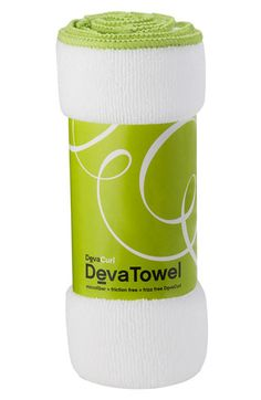 DevaCurl 'DevaTowel' Microfiber Towel at Nordstrom.com. Did you know the coarse texture of a terry-cloth towel promotes frizz and is too absorbent for curls? The remarkably soft, microfiber DevaTowel provides a smooth surface and absorbs just enough water to allow DevaCurl styling products to set curls while keeping them defined, frizz-free and intact.
