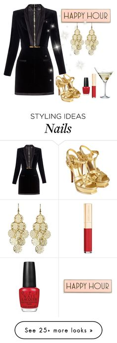 """Untitled #2295"" by empathetic on Polyvore featuring Rosanna, Balmain, Alexia Crawford, Yves Saint Laurent, Eva Solo, Dolce&Gabbana and OPI"