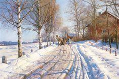 winter scene paintings   Winter scene - Monsted Art Prints - Easyart.com