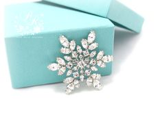 This gorgeous multipurpose snowflake style brooch will work perfect for your DIY creation which can be used on hair comb, sash applique, buckle,