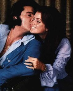 Elvis & Priscilla... they were so in love! From a private family picture photo session at Graceland