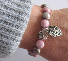 Armbänder -  Armband mit stein marmorierte Rocailles  - ein Designerstück von MIO-O bei DaWanda