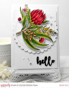 Hi Everyone I am so Excited to be here with my first post for Uniquely Creative Stamp & Colour It is an Awesome Stamp and Colour . Handmade Tags, Greeting Cards Handmade, Card Making Inspiration, Making Ideas, Color Kit, Creative Colour, Space Crafts, Xmas Cards, Aussies