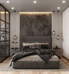 Modern Luxury Bedroom, Modern Master Bedroom, Modern Bedroom Design, Master Bedroom Design, Minimalist Bedroom, Luxurious Bedrooms, Home Bedroom, Master Suite, Bedroom Decor