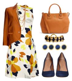 """""""orange and blue"""" by stephanienora ❤ liked on Polyvore"""