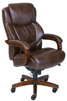 La-Z Boy Big & Tall Bonded Leather Executive Chair Chestnut Brown - Office Chair - Ideas of Office Chair - La-Z Boy Big & Tall Bonded Leather Executive Chair Chestnut Brown Most Comfortable Office Chair, Best Office Chair, Executive Office Chairs, Home Office Chairs, Home Office Furniture, Office Desk, Lawyer Office, Hanging Chair From Ceiling, La Z Boy