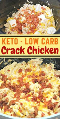 Keto crack chicken in the crock pot low carb dinner recipes, Healthy Recipes, Low Carb Recipes, Diet Recipes, Recipes Dinner, Cooker Recipes, Healthy Foods, Crockpot Recipes, Salad Recipes, Dessert Recipes