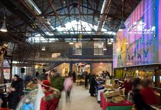 Evergreen Brick Works and the Centre for Green Cities is the new home for the Evergreen Foundation, which was renovated from an old brick factory in Toronto by Diamond Schmitt Architects
