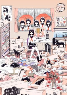 Manga illustration by Super Normal シュレディンガール