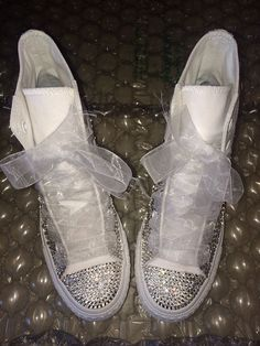 wedding converse brides maid custom swarovski converse bling sneakers bride on etsy