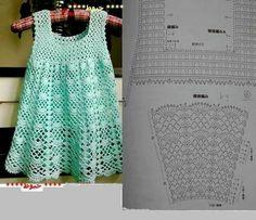 Crochet dress with diagram                                                                                                                                                                                 Mais