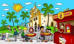 Painel ilustrado desenvolvido para o estabelecimento da empresa Shake Point em Cotia-SP