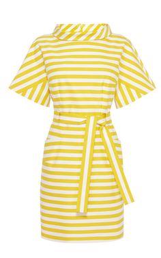 BELTED STRIPE KIMONO DRESS Karen Millen atelier