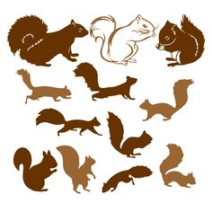 Squirrel Pack Cuttable Design Cut File. Vector, Clipart, Digital Scrapbooking Download, Available in JPEG, PDF, EPS, DXF and SVG. Works with Cricut, Design Space, Cuts A Lot, Make the Cut!, Inkscape, CorelDraw, Adobe Illustrator, Silhouette Cameo, Brother ScanNCut and other software.