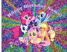 Personalized My Little Pony Cake topper or by Pictures4Cakes